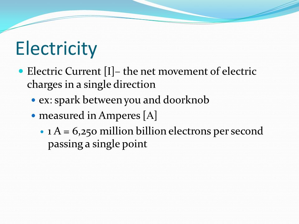 Charge Amp Electricity Unit 6 Lecture Ppt Video Online
